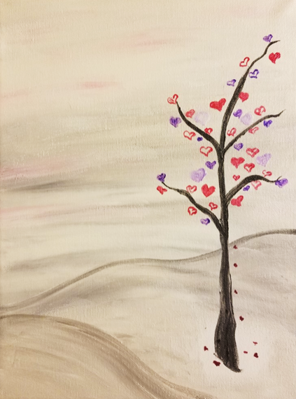 Paint the Town: Valentine Tree @ Vino Loco