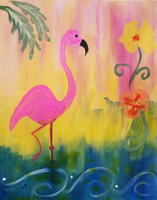 Paint the Town: Flamingo Friday or Hearts to the Moon @ Creative Spirits